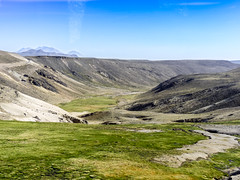 Puno-Colca-2270 (kasiahalka (Kasia Halka)) Tags: road peru southamerica volcano llama dustdevil colca puno whirlwind vicuña vicugna vicugnavicugna