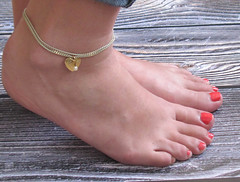 Delicate Light Green Heart Anklet - Multistrand Ankle Bracelet - Anklet Double Strand - Colorful Anklet - Hearty Anklet (galcohen2014) Tags: summer green beach foot colorful heart under jewelry charm gift bracelet bridesmaid 20 delicate ankle dainty anklet