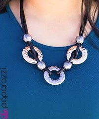 5th Avenue Black Necklace K3 P2130-5