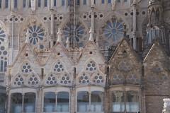 windows (Val in Sydney) Tags: sculpture familia spain espana gaudi espagne nativity cathedrale segrada