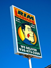 Rim Liquor, Payson, AZ (Robby Virus) Tags: gay arizona man sign store wine beers fine craft lick we liquor alcohol signage booze rim payson suggestive deliver