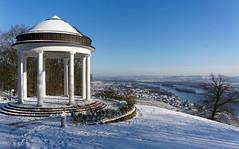 Rdesheim Niederwald-Tempel (Stadtlichtpunkte) Tags: schnee winter snow germany hessen aussicht rhein rheingau rdesheim tempel aussichtspunkt hesse mittelrheintal niederwald talblick rheingautaunuskreis niederwaldtempel