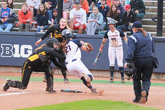 Tagged out at home (RPahre) Tags: home out illinois universityofillinois urbana softball bigten catcher runner pitcher umpire universityofiowa homeplate baserunner b1g eichelbergerfield