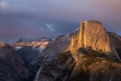 Yosemite National Park: Golden Storm (kielmaddoxphotography) Tags: sunset landscape yosemite halfdome yosemitenationalpark