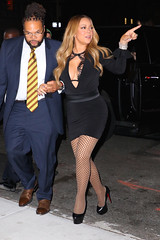Mariah Carey (heelboy_uk) Tags: usa ny newyork stockings smiling fashion happy highheels candid style singer actress fishnets interview recordingartist blackdress mariahcarey christianlouboutin guestappearance wwhl watchwhathappenslive