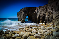 DSC_0241 (FlipperOo) Tags: voyage sea mer france color st rock port de nikon pierre vagues plage morbihan blanc roche arche quiberon instagramapp