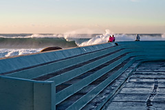 Cowrie Hole was up this morning (noompty) Tags: cowriehole surf wave water ocean baths newcastle nsw pentax k1 carlzeiss zk on1pics makroplanart2100