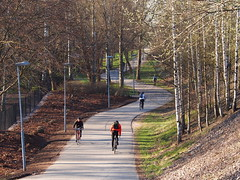 2016 Bike 180: Day 100,  May 3 (olmofin) Tags: bicycle finland spring helsinki path bicycles commuter commuters polkupyr alppipuisto alppila pyrtie 2016bike180