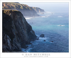 Bluffs and Morning Fog (G Dan Mitchell) Tags: ocean california usa seascape nature fog landscape one coast highway pacific north central shoreline cliffs shore bluffs rugged americabigsur