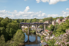 The Only Scene In Knaresborough (sprinterveg) Tags: england station river landscape yorkshire north railway super scene class viaduct only knaresborough iconic choochoo 155 153 sprinter nidd 155342 153332