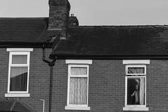Curiosity kills (mecenas zielon) Tags: urban blackandwhite bw house manchester noir secret streetphotography streetscene monochromatic mysterious disturbing minimalism bnw scarry darkphotography timing
