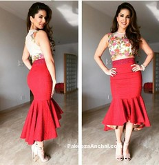 Sunny Leone floral Top and Red Peplum Skirt (shaf_prince) Tags: sunnyleone bollywoodactress sleevelesstop designerwear highheelssandals floraltops celebritydresses peplumskirt bollywooddesignerdresses actressinskirts