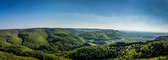 Ausblick vom Rossbergturm (Morton Rainey) Tags: green forest germany deutschland highland alb wald tübingen badenwürttemberg swabian schwäbische swabia reutlingen sonnenbühl gönningen