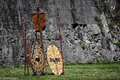 IMG_7345 (scramasacs) Tags: celtic gradisca shields historicalreenactment istorica
