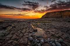 Southerndown Sunset (technodean2000) Tags: ocean uk sunset sea water southwales wales landscape coast seaside nikon outdoor south wave shore serene ogmore bridgend porthcawl lightroom southerndown d610