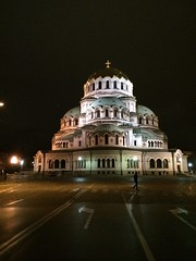 Cities At Night Alexander Nevski Cathedral Sofia Sofia, Bulgaria Bulgaria   Sofia By Night Night Cathedral Orthodox Europe Travel Square (ciaobucarest) Tags: citiesatnight alexandernevskicathedral sofia bulgaria   sofiabynight night cathedral orthodox europe travel square