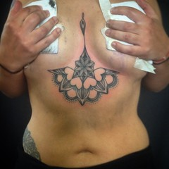 (Sean Miller Artwork) Tags: mandala tattoos custom sternum buffalove dotwork seanmillertattoos relentlesstattoocompany sternumtattoo