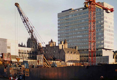 St Nicholas House and Provost Skene's House, 1983 (Taysider64) Tags: city construction cranes aberdeen citycentre officeblock redevelopment tallbuildings provostskeneshouse stnicholashouse stnicholascentre
