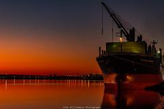 Glourious Sunshine at Dawn Port River Adelaide South Australia. (johnwilliamson4) Tags: adelaide industrial landscape outdoor portriver southaustralia sunrise water orange reflections australia