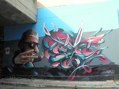 525 (en-ri) Tags: vadc indaco rosa 3d ragazzo boy guy torino wall muro graffiti writing