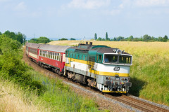 754.045-3, R 1147 Metodj Vlach, Praha-akovice (cz.fabijan) Tags: train prague railway praha vlak d akovice eskdrhy eleznice r1147 metodjvlach