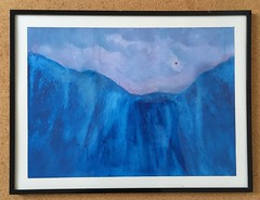 Thunderstorm over Turquoise Mountain (Framed) (randubnick) Tags: mountains art painting landscape framed acrylicwatermedia thunderstormoverturquoisemountains