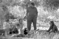 1972 visiting Arcadia-08 group on ground-LeVoy, Flavius, Genny, LaGena, Diane-bw.jpg (chazzman34) Tags: elements