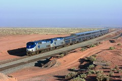 AMTK 84, #4, W. WINSLOW, AZ 6-5-16 (TRAINFLAMES) Tags: arizona 4 amtrak locomotive ge winslow passengertrain southwestchief transcon p42dc seligmansub