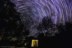 A Door To Another Dimension (Photography By Tara Gowen) Tags: startrails stars night nightscape longexposure starstax nikon house door circles australia southernsky tokina1116mm abstract trees taragowen photographybytaragowen ngc