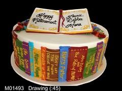 M01493 (merrittsbakery) Tags: cake retirement shaped books novel story hobby