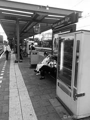 Alphen aan den Rijn station (Thijs Tennekes) Tags: alphen rijn alphenadrijn station people woman man machine rail thijs tennekes sign