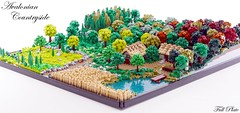 Avalonian Countryside (9 of 9) (Emil Lid) Tags: lego moc goh avalonia countryside landscape forest field farm lake