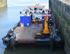 Seadog (3) @ KGV Lock 12-09-16 (AJBC_1) Tags: riverthames gallionsreach london ship boat vessel workboat multicat dlrblog england unitedkingdom uk ajc northwoolwich eastlondon newham londonboroughofnewham cpbsmarineservices multipurposevessel marineengineering nikond3200 havensearider pontoon seadog kgvlock kinggeorgevlock gallionspoint