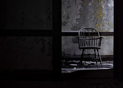 Lonely chairs. State Hospital 2016. (night.letters) Tags: weathered derelict trespassing newengland photography photo dark longexposure 50mm nikonlenes nikond7200 d7200 nikonlove teamnikon nikondslr nikondigital nikon history historic old forgotten chair texture urbandecay beautifuldecay decay exploredbeauty exploring urbanexploring urbex insaneasylum hospital statehospital abandonedhospital stateasylum asylum abandonedasylum abandoned