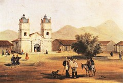 Iglesia y plaza de Andacollo por M Rugendas (santiagonostalgico) Tags: mgs172116 chilean huasos c 1836 oil canvas 99huaso is cowboy cowboys landscape valley stream mountainous horse horses rider riders riding hat andes central chile lasso south american gaucho rugendas johann moritz 180258 private collection german topographical rest world america animals sports leisure driving the west indies 19th