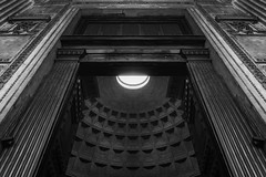 To The Heavens... (JH Images.co.uk) Tags: rome italy doors cealing looking up light bw blackandwhite dri symmetry symmetric vatican door opening