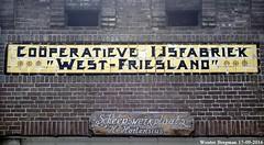"Coperatieve IJsfabriek  ""West-Friesland"" (XBXG) Tags: coperatieve ijsfabriek westfriesland ijs ice vette knol enkhuizen gebouw huis maison house nederland holland netherlands paysbas muur historische gevel gevelreclame old historic dutch wall ad vieille reclame publicit murale peinte building outdoor text texture tegel tegeltableau tiles emaille enamel"