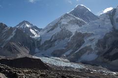 Everest and the Khumbu icefall (D A Scott) Tags: nepal himalayas mountains everest base camp trek