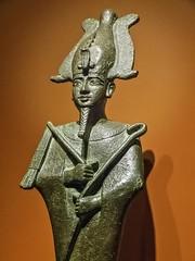 Closeup of Bronze Figurine of Osiris Egypt 26th Dynasty - Ptolemaic Dynasty Late Period - Ptolemaic Period 664-32 BCE (mharrsch) Tags: figurine bronze statue sculpture osiris god deity religion worship funeraryart 26thdynasty ptolemaicdynasty lateperiod ptolemaicperiod egypt ancient nelsonatkinsmuseum kansascity missouri mharrsch