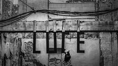 LUCE (Solar abandonado) (ponzoñosa) Tags: valencia solar urbano carmen instalación