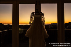 Wedding Dress At Sunset