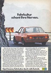 1977 Opel_3 (jens.lilienthal) Tags: auto old classic car vintage germany advertising ascona gm general reclame ad voiture motors german advert werbung 1977 reklame opel anzeige werbeanzeige