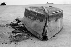 The end... (The Ant Photos) Tags: street travel sea blackandwhite boats spain noiretblanc