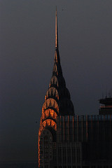 Chrysler Building (shumpei_sano_exp3) Tags: newyork reflection sunrise buildings dawn spire mornings chryslerbuilding urbanlandscape aplusphoto colourartaward flickrestrellas multimegashot