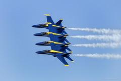 4 in 1 (Francine Schumpert) Tags: jets airshow blueangels fa18hornet jacksonvillefl theblueangels boringsky nikond810 boringbluesky nasjaxairshow2014
