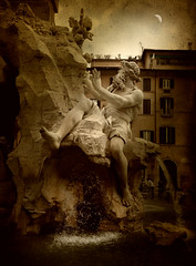 Rome .. The Fountain of the Four Rivers