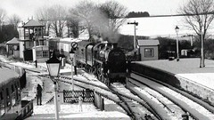 Winters aren't what they used to be. Midland Railway Centre. 28 12 2014 (pnb511) Tags: br derbyshire railway trains steam locomotives midlandrailwaycentre standardclass5