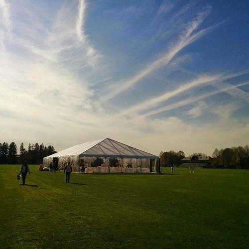 #settingup #tent #Bridgeport #Connecticut #CT #NovemberSkies