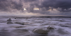 Seascape (JamboEastbourne) Tags: sunset sea england seascape clouds sussex chalk rocks gap east eastbourne birling