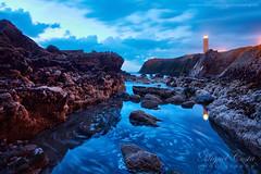 """Deja Vu"" (skylight99) Tags: ocean longexposure lighthouse praia beach portugal weather clouds waves dramatic lowtide farol leiria ondas oceano baixamar rochas saopedrodemoel"